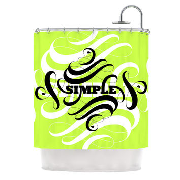 """Roberlan """"Simple"""" Lime Green Shower Curtain"""