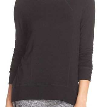 Beyond Yoga Terry High/Low Pullover | Nordstrom