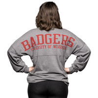 League Women's Long Sleeve T-Shirt (Gray)