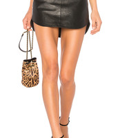 BB Dakota Conrad Leather Skirt in Black | REVOLVE