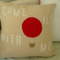 Come Fly With Me Pillow Cover by OIive on Etsy