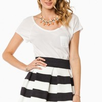 ELIZA SKIRT IN NAVY AND WHITE