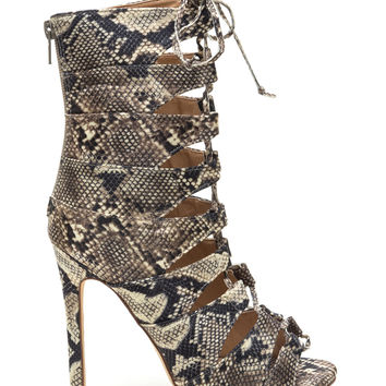 Playing Python Tall Lace-Up Booties