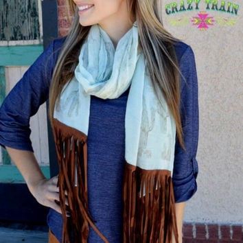 Mint Cadillac Cactus Scarf by Crazy Train
