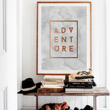 Adventure Poster, Wall Decor, Minimalistic Poster, Inspiration, Typography, Illustration, Motto, Life Quote.