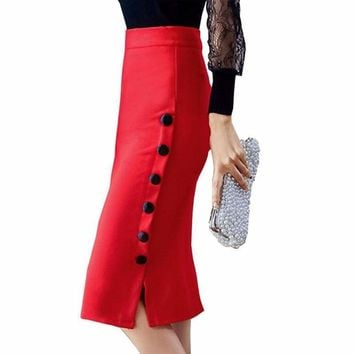 Elegant Office Wear  Pencil Skirt