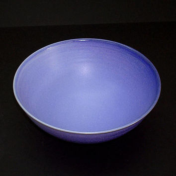 Lavender blue porcelain bowl, blue lavender pottery bowl, purple ceramic bowl, serving bowl