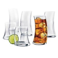 Libbey, Swerve 16-Piece Beverageware Set in Clear, 31651 at The Home Depot - Mobile