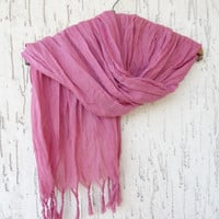 Handwoven infinity scarf,  Dried Rose Scarves, Natural,Organic Scarf, Fashion accessories, Women Scarves