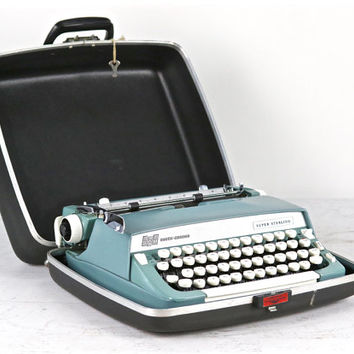 Vintage Smith Corona Super Sterling Typewriter, Working Typewriter, 1966 Super Sterling Portable Typewriter, Vintage Mid Century Typewriter