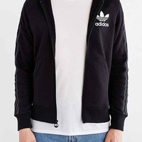 adidas Originals Sport Essentials Logo Zip Hooded Sweatshirt- Black