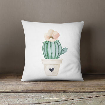 Brand New Day Solo Cactus Throw Pillow