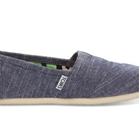 TOMS Blue Chambray Women's Classics Blue