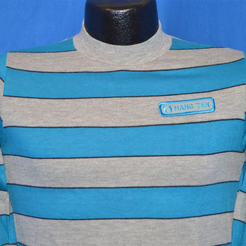 70s Hang Ten Surf Striped Long Sleeve t-shirt Small