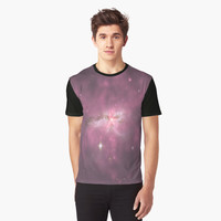 'Pastel Purple Galaxy Collision' Graphic T-Shirt by ChessJess