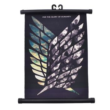 Attack on Titan Wings of Liberty Canvas Scroll Poster