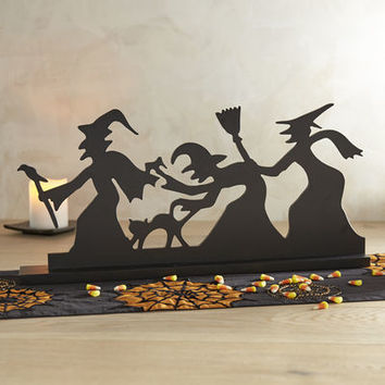 Spooky Witch Silhouette Decor