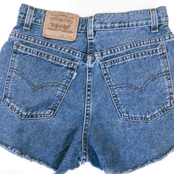Distressed Mid to High Waisted Cut off shorts/All Sizes/Jean Shorts/ALL BRANDS Levis, Guess, Lee, Riders, Wrangler..etc