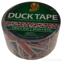 """Lot 5 Duck Tape Duct UK Flag Union Jack Red White Blue 1.9""""x10 yd Craft Made USA"""
