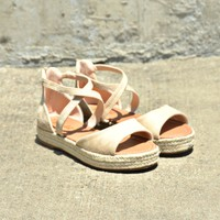 Live It Up Sandals - Natural
