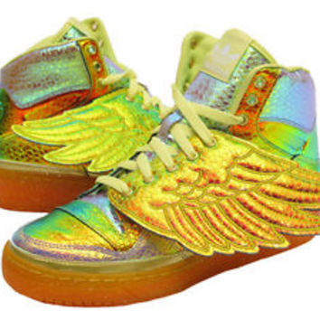 Adidas Jeremy Scott Foil Wing Shoes Multi-Color shoes  Size 8.5 us D65203