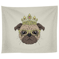 The Puggliest Pug Tapestry