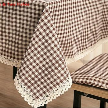 Free shipping Linen Tablecloths Lattice Tablecloth Beautiful Hollow Lace Table Cloth Sofa Armrest Prevent dust Cover Cloth
