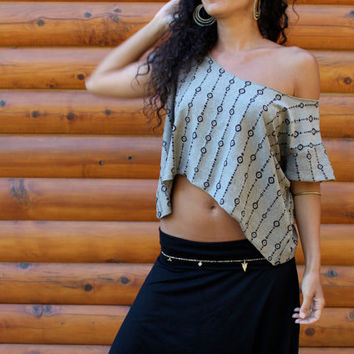 Japa Crop Top - Loose Comfy Cool Yogini Top - Layering Boho Top