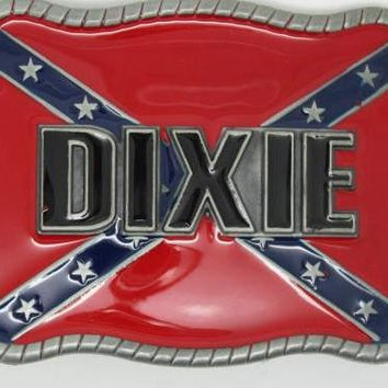 Dixie Square Confederate Belt Buckle