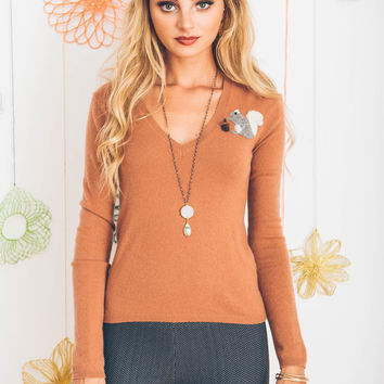 Squirrel Cashmere Sweater, XS