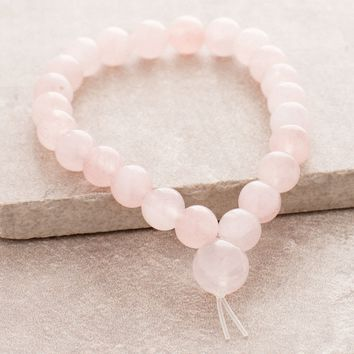 High-Energy Rose Quartz Wrist Mala