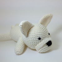 French Bulldog Stuffed Animal Dog Crochet Puppy Amigurumi Large Size Plush Toy / Made to Order