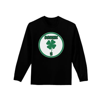 1fc72bbd09fa Drunk 2 Funny Adult Long Sleeve Dark T-Shirt by TooLoud