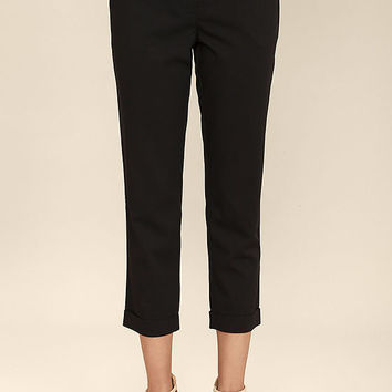 Brunch Break Black Trouser Pants