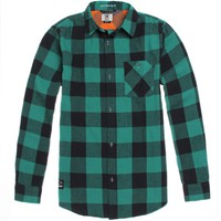 Fourstar Ishod Flannel Shirt - Mens Shirts - Green