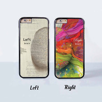 Left and Right Brain Best Friend Couple Case for Apple iPhone 6 Plus 4 4s 5 5s 5c 6