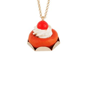 N2 by Les Néréides GOURMET COFFEE RUM BABA LONG NECKLACE