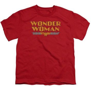 DCCKM83 Wonder Woman Logo Short Sleeve Youth 18/1