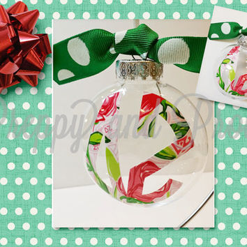 Lilly Pulitzer Inspired Sorority Christmas Ornament