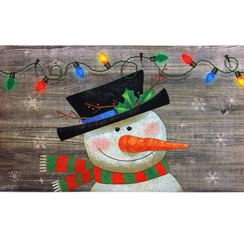 Indoor/ Outdoor Woodland Snowman Doormat (18 x 30) | Overstock.com Shopping - The Best Deals on Door Mats