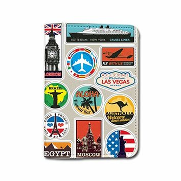 Travel The World Name Customized Leather Passport Holder - Passport Protector - Passport Cover - Passport Wallet_SUPERTRAMPshop (PPVA286)