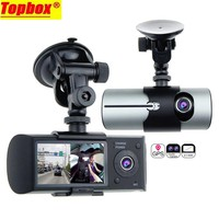 "2017 New Dual Camera Car DVR R300 Videoregistrator With GPS Registrator Car Recorder G-Sensor 2.7"" Automobile DVRs Digital Zoom"