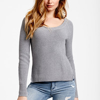 Side-slit Pullover Sweater