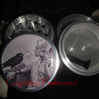 Alfred Hitchcock The Birds Tippi Hedren 4 Piece Grinder Herb Spice Quality Aircraft Grade Aluminum from Cognitive Fashioned