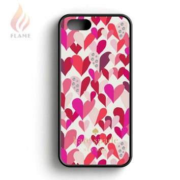 Kate Spade Confetti Hearts Multi Crystal Stone iPhone 5 Case iPhone 5s Case iPhone 5c Case