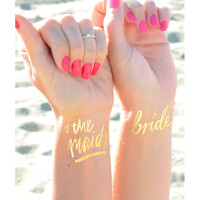 Bridal Party Gold Tattoos