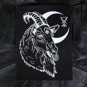 Baphomet Crescent Moon Patch
