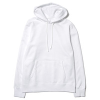 Midweight Twill Terry Pullover Hoodie White