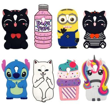 Lovely Cute 3D Cartoon Soft Silicon Cover For Meizu M3S Case Phone Cases For Meizu M3 Meilan 3/3S Rabbit Kitten dog Minion Case