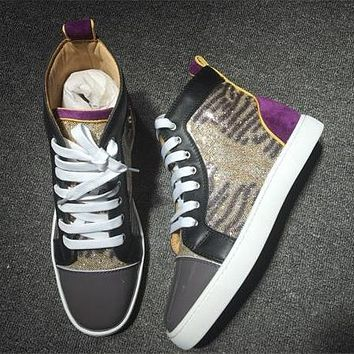 Christian Louboutin CL Leather Style #2161 Sneakers Fashion Shoes Online
